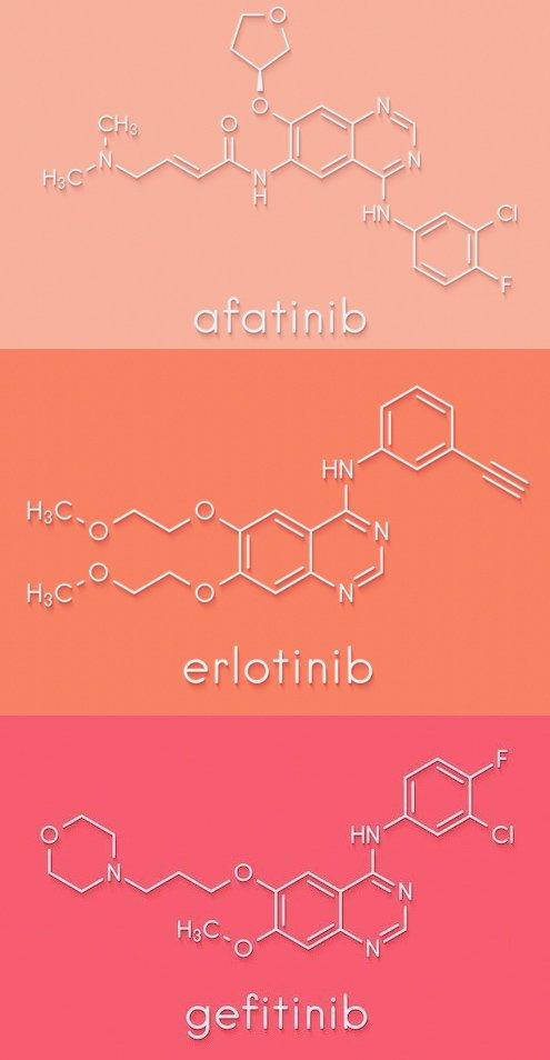Afatinib Erlotinib Gefitinib effetti collaterali